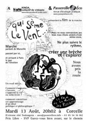 Affiche projection du film - mardi 13 aout à Corcelle